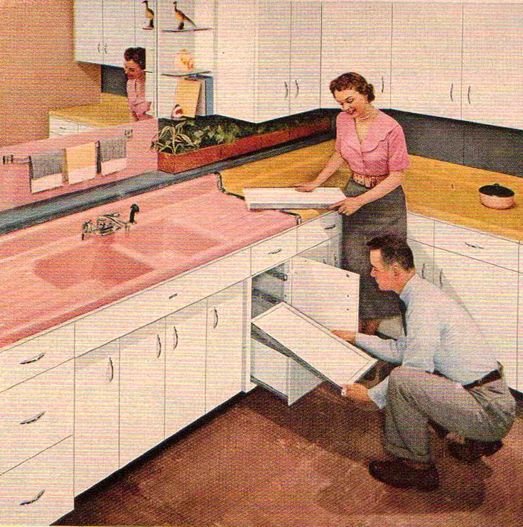 Knotty Pine Cabinets Makeover: 1000+ Images About Retro Kitchens On Pinterest