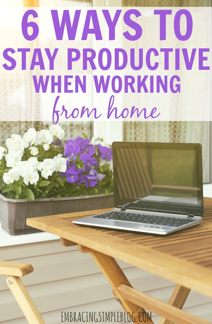 Do you struggle with being productive when you work from home? Read these fabulous tips on 6 ways to stay productive when working from home that will help you to be more productive, so you can work smarter, not harder.