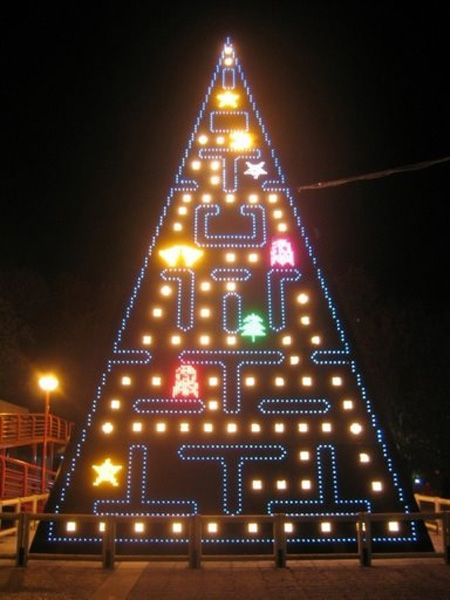 Pac-Man Christmas Tree      A fully-animated version of the classic arcade game, rendered across thousands of colored LEDs.