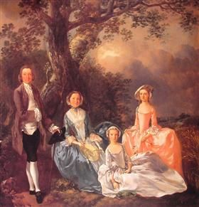 Mr. and Mrs. John Gravenor and their Daughters, Elizabeth and Ann - Томас Гейнсборо