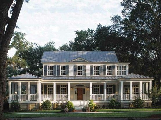i have a serious obsession with wrap around porches....and southern homes