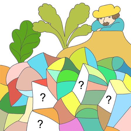 Working on a puzzle picture for the Sweetwater app.