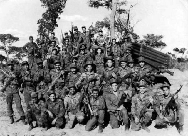 A Cuban Artillery unit during the battle at Cuito Cuanavale, Angola, in December 1987