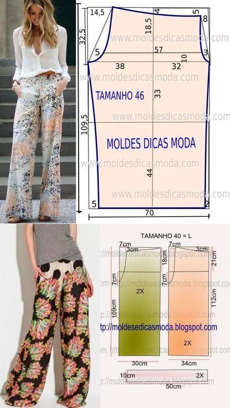 Pin de vero gutierrez en moldes | Pinterest | Costura, Ropa y Pantalones