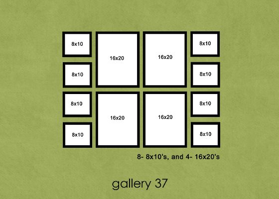 photo gallery - lots of good ideas for galleries using all sizes of frames