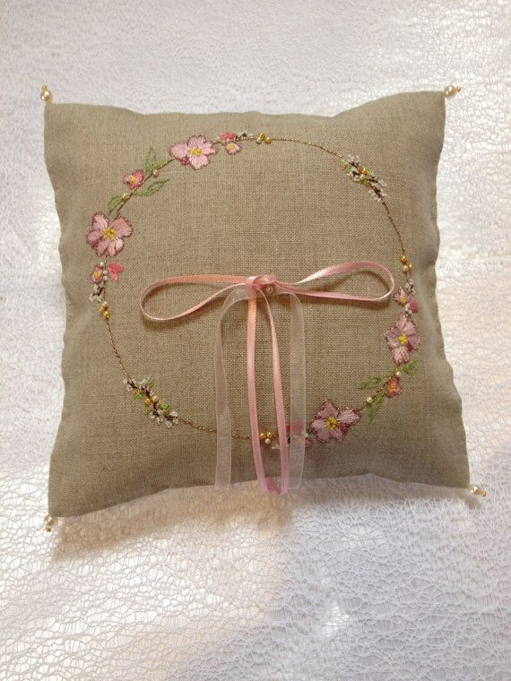 Wedding Ring Pillow. Free Shipping for Limited by MadeToMarry