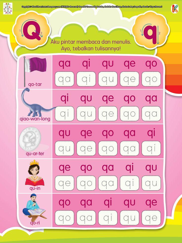 Membaca dan Menulis Huruf Awalan Q