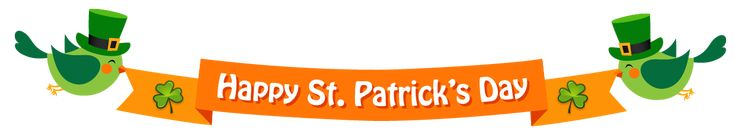 Happy St Patricks Day Banner PNG Clipart