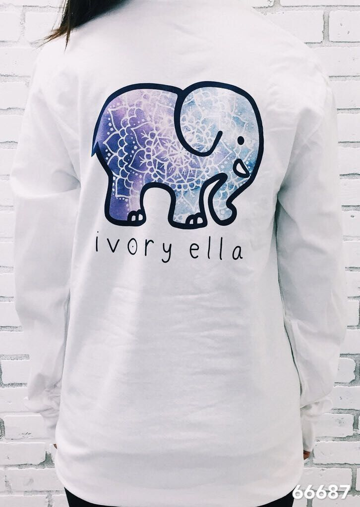 Ivory Ella T-shirt Loose Long Sleeve