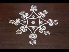 beginners kolam designs with 5 to 1 dots    simple muggulu designs with dots    easy rangoli designs - YouTube