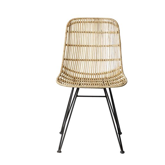 Darling Rattan Chair, Nature w/Black