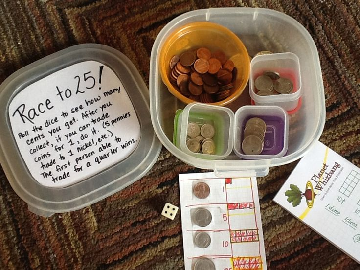 Here's a nice idea for a game to practice coin counting and exchanging.