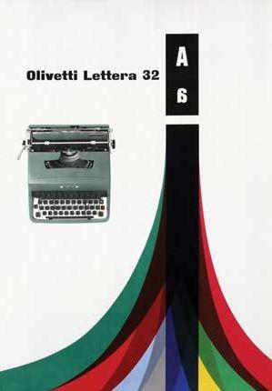 Olivetti Lettera 32 Poster Designed by Giovanni Pintori, 1960