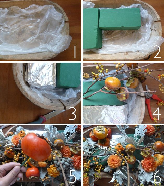 how to arrange a thanksgiving centerpiece #diy @sbchic
