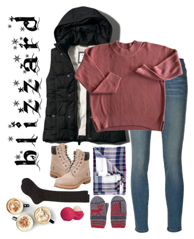 """By the Fire"" by peculiarsisters ❤ liked on Polyvore featuring Frame Denim, Cents of Style, Abercrombie & Fitch, Timberland, Maria La Rosa and Eos"