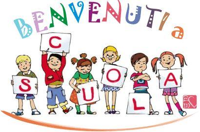 Accoglienza: striscioni, cartelli, diplomi, segnalibri, segnaposti, poesie, filastrocche, coccarde e copertine per la scuola primaria e dell'infanzia.