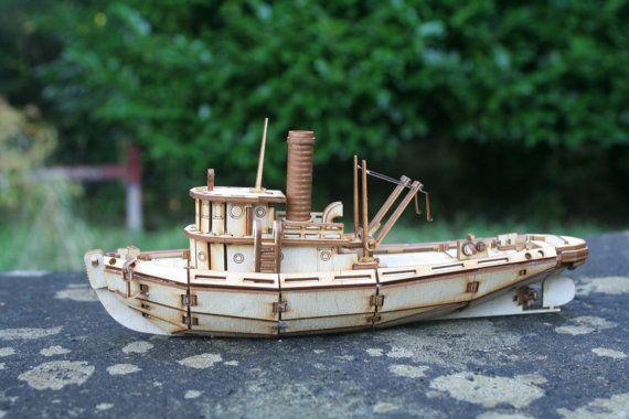Model Tug Boat Kit от FleursGifts на Etsy
