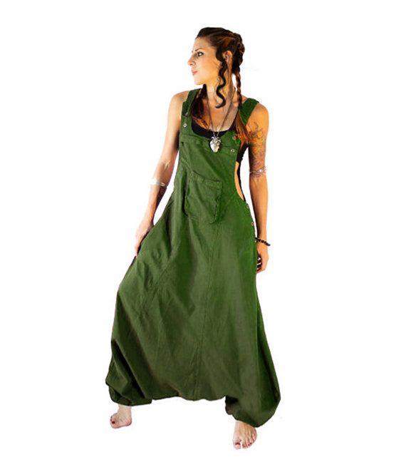 #Farbberatung #Stilberatung #Farbenreich mit www.farben-reich.com Olive Aladdin Harem Jumpsuit Overalls Frauen von manaKAmana