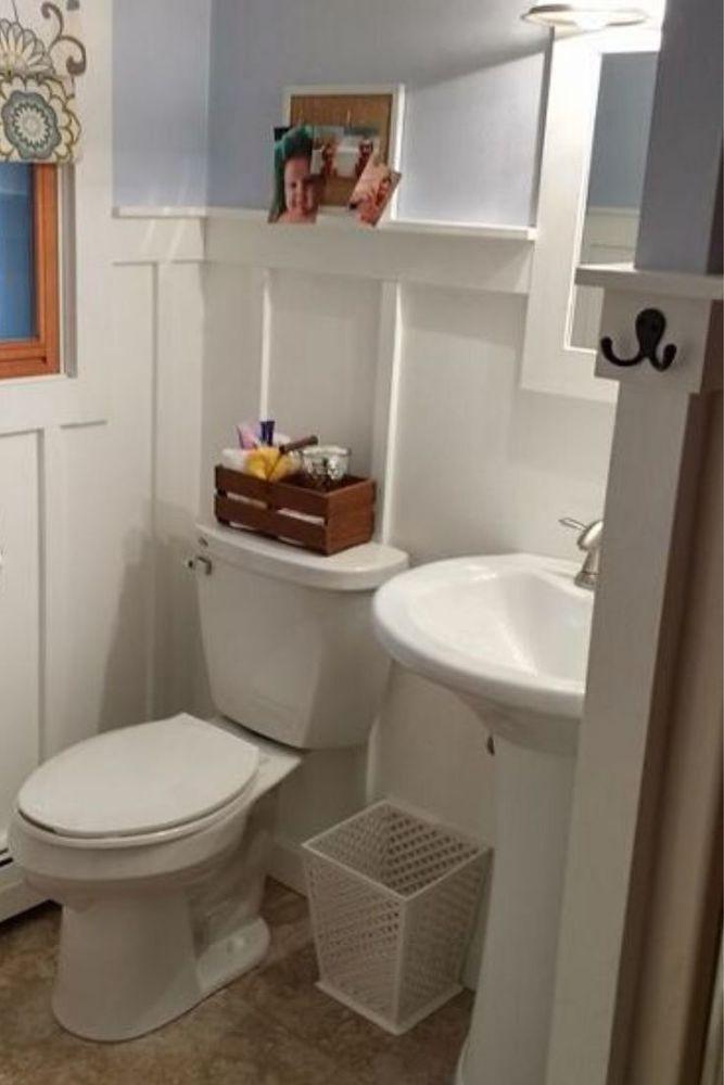 Diy Small Bathroom Makeover Idea In 2020 Small Bathroom Diy Timeless Bathroom Small Bathroom Makeover