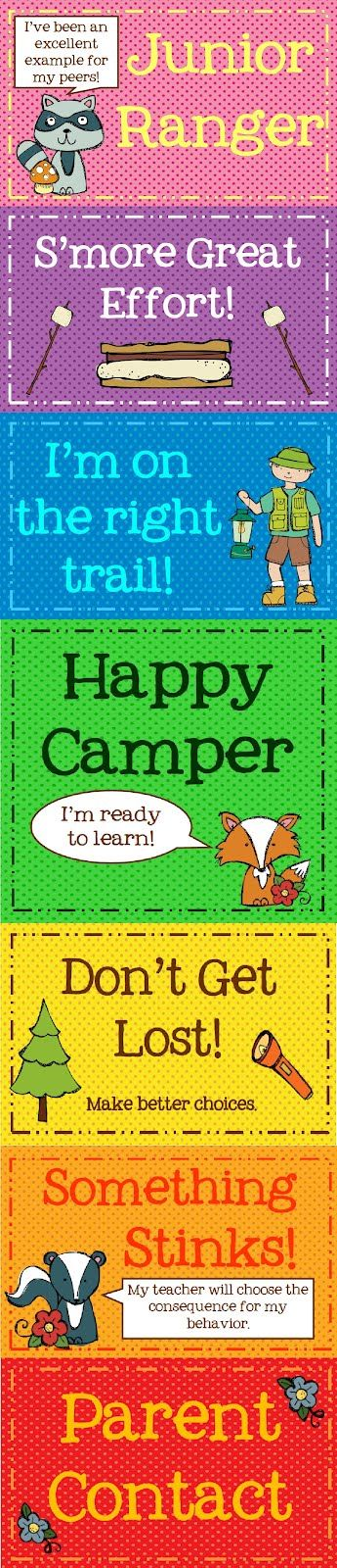 Camping Theme: Classroom Management Clip Chart Freebie: Camps Theme Classroom, Classroom Theme, Camps Classroom, Management Clip, Behavior Charts, Camping Theme, Clip Charts, Charts Freebies, Classroom Management