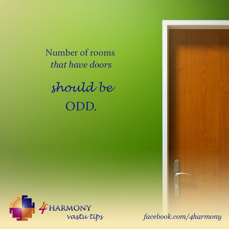 Number of rooms that have doors should be odd.