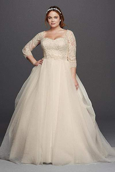 For the Plus Size Bride  Oleg Cassini for David s Bridal  b4737602a692