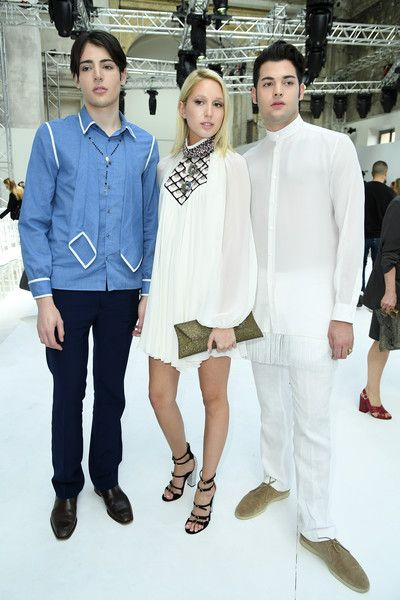 Harry Brant, a guest and Peter Brant attend the Giambattista Valli Haute Couture Fall/Winter 2016-2017 show as part of Paris Fashion Week on July 4, 2016 in Paris, France.