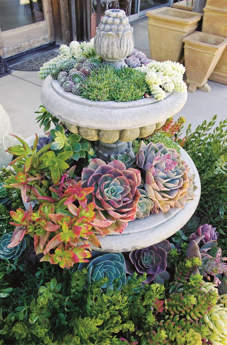 1000 ideas about tiered planter on pinterest stacked for 1000 designs for the garden and where to find them