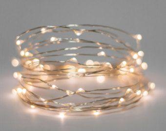 Weiß 30 Licht LED Draht Lichterkette, 10 Fuß beleuchtete LED Lichter Batterie betrieben Chirstmas Party oder Hochzeit Lichter