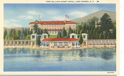 Lake George, New York-Fort William Henry Hotel-Linen-#34-(Lkg-Box-236)