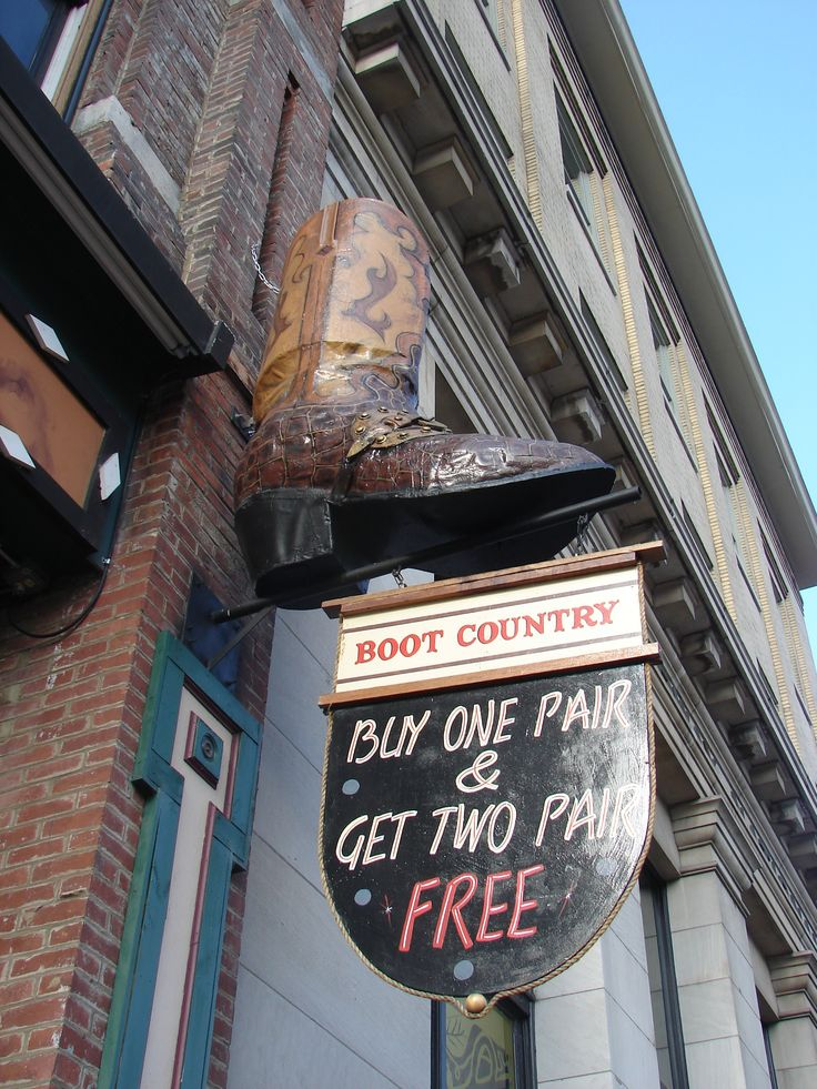 Honky Tonk Row, Nashville, Tennessee... must find this store I want that deal! :)