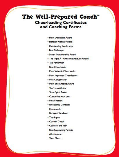Cheerleading Award Certificate Maker - Youth Basketball Practice Plans