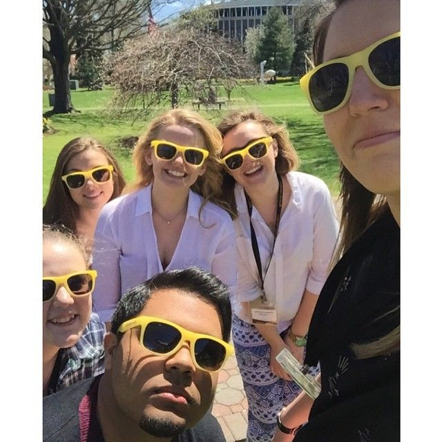 @adelphiambassadorsCheck out some tour slot shenanigans! Thank you so much @adelphiu for the shades on this beautiful day!  #AdelphiLife #ExploreAdelphi #AdelphiU