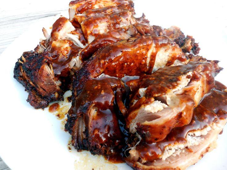 Slow Cooker Parmesan Honey Pork Roast on SixSistersStuff com