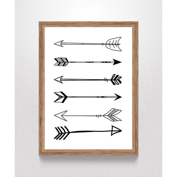 Digital Download Tribal Arrows Black and White Nursery Print, Nursery... (9.08 AUD) ❤ liked on Polyvore featuring home, children's room and children's decor
