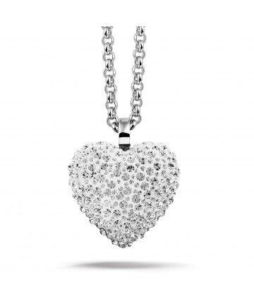 Phantasya Necklace XLarge Heart White
