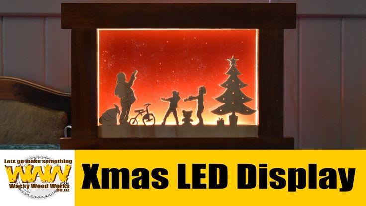 Xmas LED Display Box -  Wacky Wood Works.