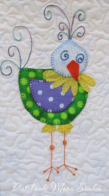 This would make a sweet #quilt block. patchouli-moon-studio.blogspot.com
