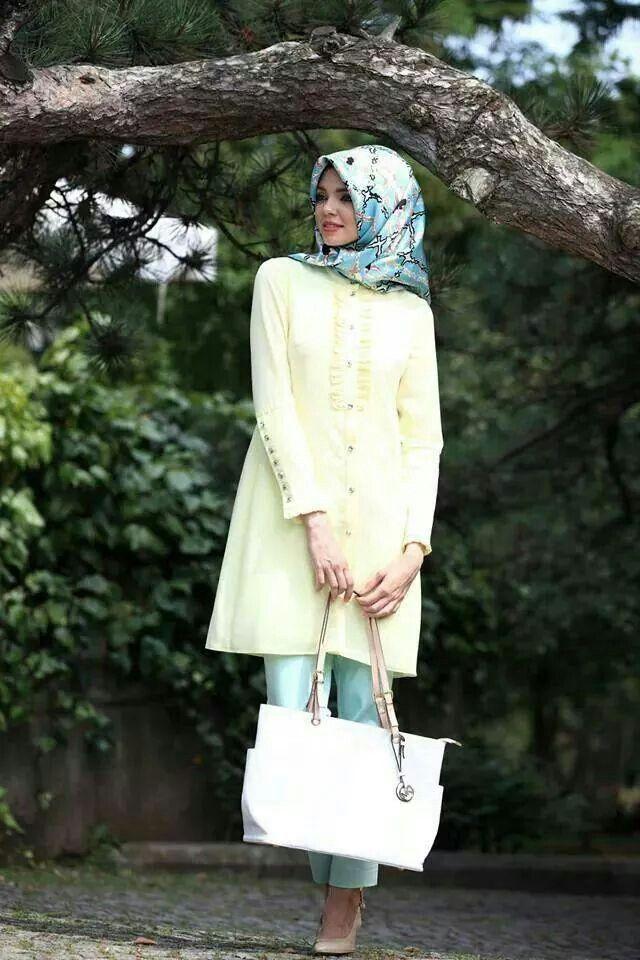 ♥ Muslimah fashion  hijab style