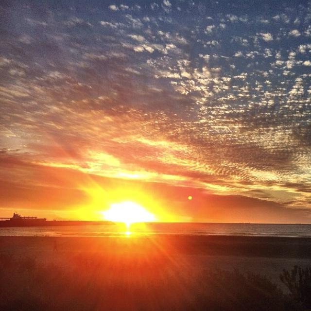 Beautiful Sunset.  North Beach, Wallaroo. South Australia.
