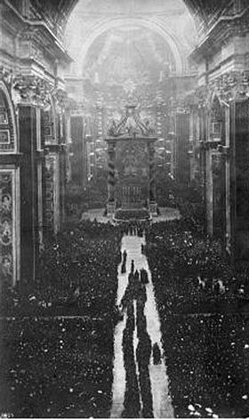 MAY 16, 1920: Joan of Arc canonized. image: Photo of Joan of Arc's Beatification Ceremony at The Vatican