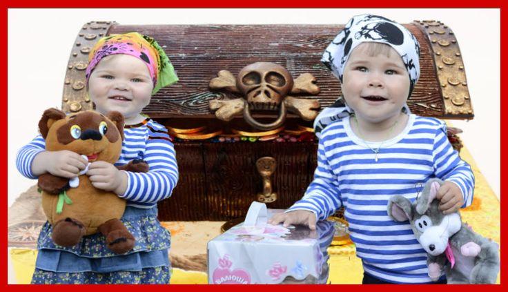 ✽ Огромный Пиратский Клад с Игрушками ✽ В поисках сокровища