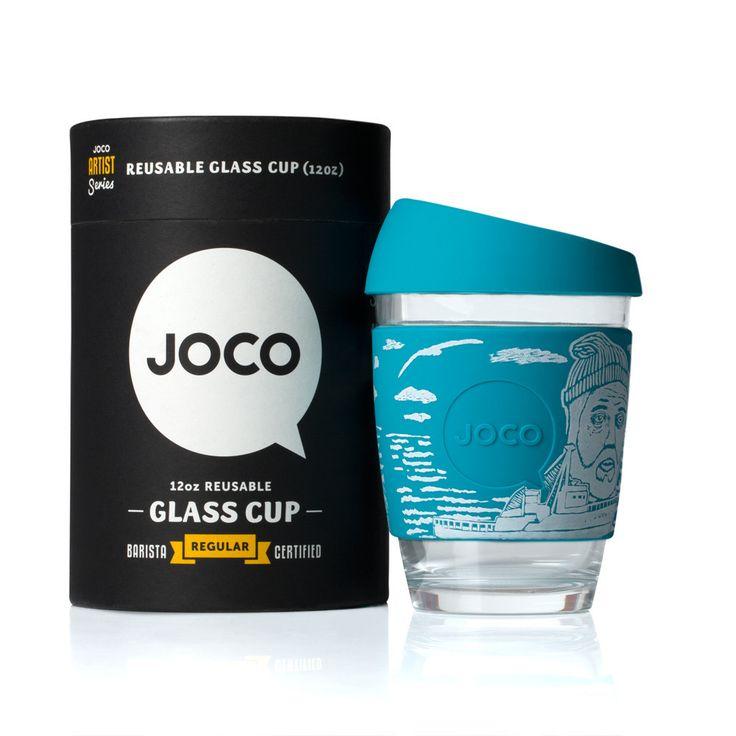 JOCO Artist Series - Reusable Hot/Cold 12oz Glass Cup - Artist Adrian Knott