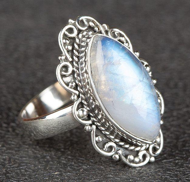 Freundschaftsringe - Mondstein Edelstein Ring, Silber Schmuck - ein Designerstück von Midas-Jewelry bei DaWanda