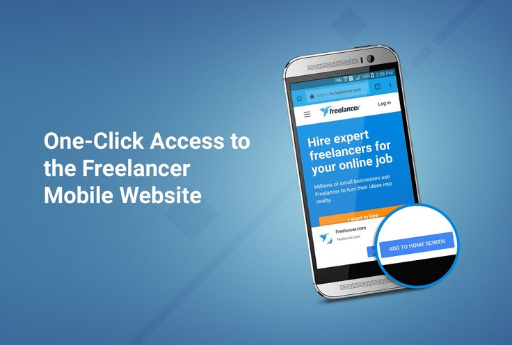One-Click Access to the Freelancer Mobile Website