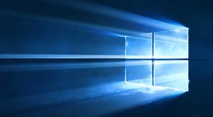 Windows 10's futuristic wallpaper was created with lasers, smoke machines, and crystal dust | PCWorld