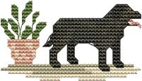 Cross Stitch Pattern - black labrador dog