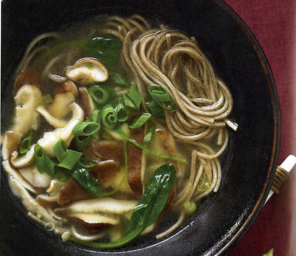 New Release: Shiitake-spinach soba noodle soup