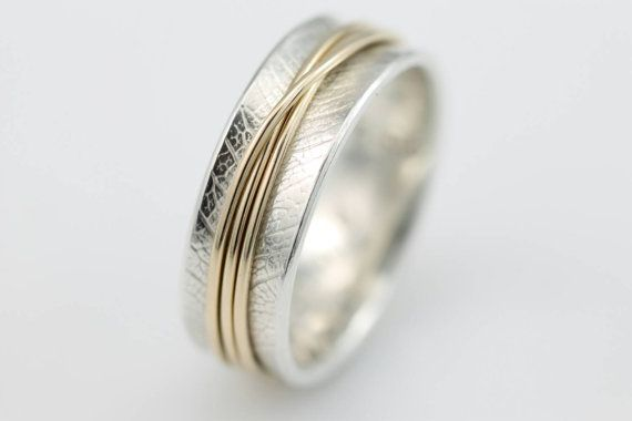 Narrow Tsutsumu Spinner Ring  meditation by stonesthrowjewelry
