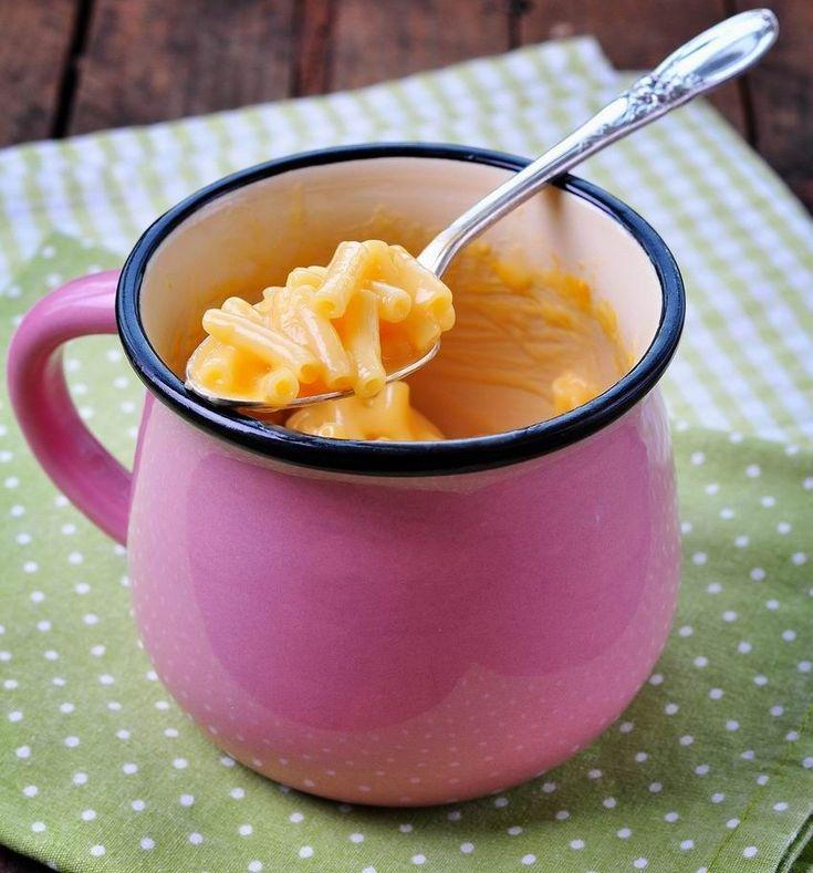 Bögrés mac & cheese mikróban  (Tipp: kukorica+pirított, kockázott bacon hozzáadásával)